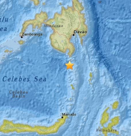 Aftershock with a magnitude of 4.7 occurred near Mindanao, Philippines
