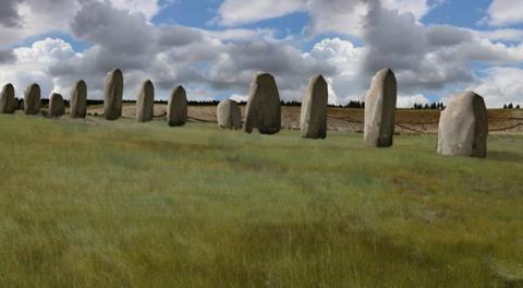 Gigantic stone monument discovered near Stonehenge