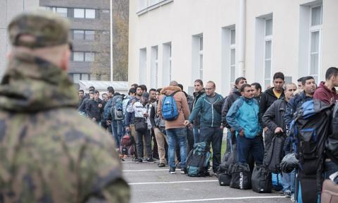 Finland refugee center targeted by racist protest group
