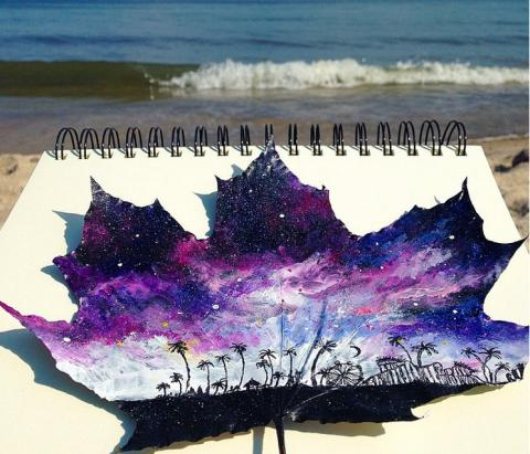 These stunning painted leaves embody everything we love about fall