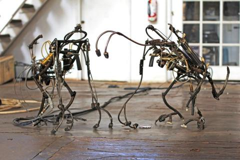 These creepy-cool robot sculptures will take you to church