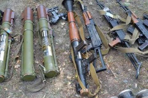 Cache with weapons discovered in Luhansk region (PHOTO)