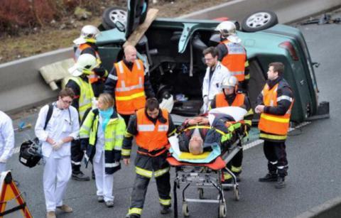 Horrific bus crash in France leaves 42 dead