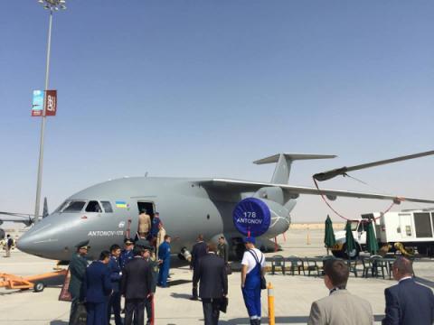 Ukraine showcases new AN-178 at Dubai Airshow 2015 (VIDEO)