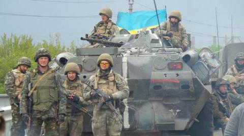 One Ukrainian soldier killed, five wounded in ATO area