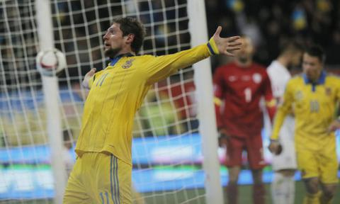 Euro 2016 qualifier: Ukraine vs Slovenia 2:0