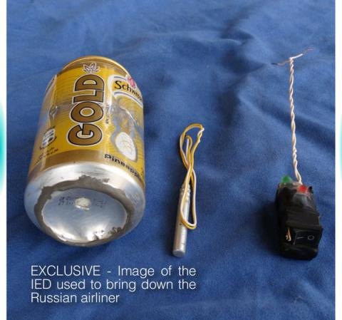 IS shows photo of bomb that downed A321