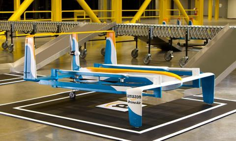 Amazon unveils hybrid drone prototype to make deliveries within 30 minutes (VIDEO)