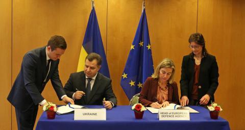 Ukrainian Defense Ministry, European Defense Agency sign administrative agreement
