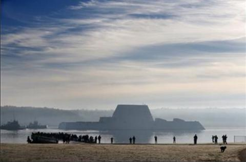 Largest destroyer built for U.S. Navy headed to sea for testing