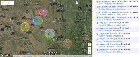 Fracking causes earthquakes in Oklahoma (USA). Last one was 4.6-magnitude