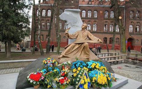 Monument to Ukraine anthem author unveiled in Lviv