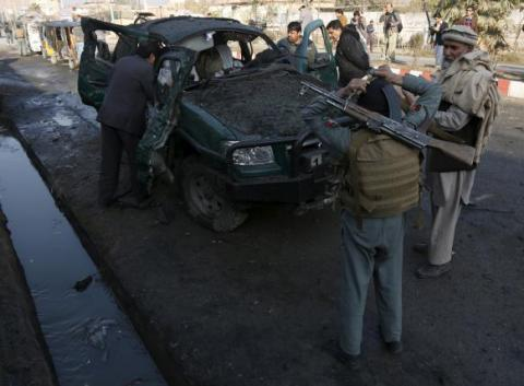 Afghan forces battle gunmen after blast near Pakistani consulate