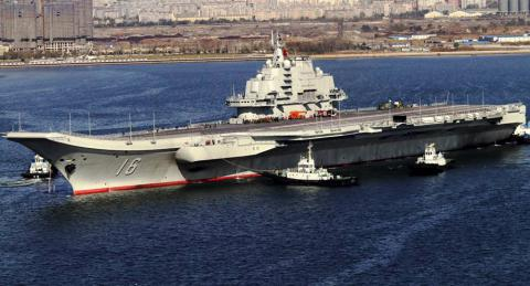 China building its first aircraft carrier using Soviet plans