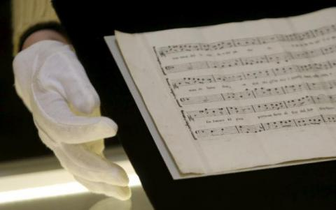 Czech musician performs long-lost Mozart score for first time