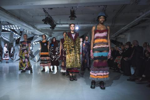 Ukrainian designer presents her collection at London Fashion Week