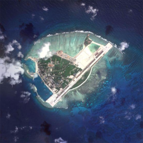 Beijing sent fighter jets to a disputed island in the South China Sea