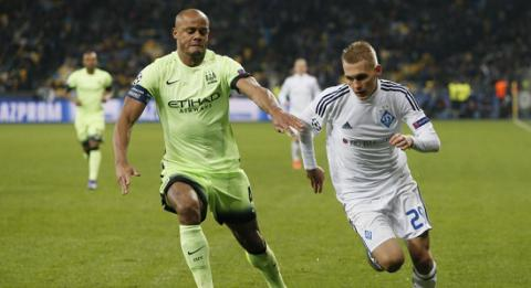 FC Dynamo Kyiv lose to Manchester City at home