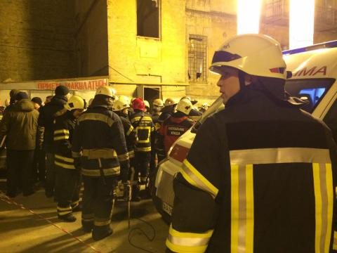 Non-residential building in Kyiv collapses, 6 injured (VIDEO, PHOTO)
