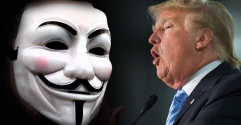 Anonymous declared war on Donald Trump