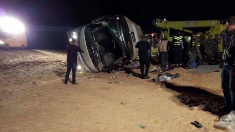 Death toll of pilgrims in Jordan bus crash rises to 16