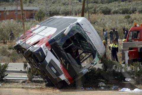 Ukrainian citizens survived bus crash in Spain