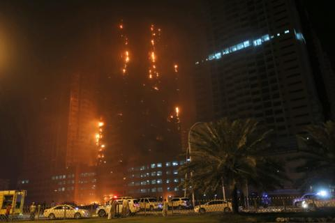 Fire breaks out at United Arab Emirates skyscraper (PHOTO)