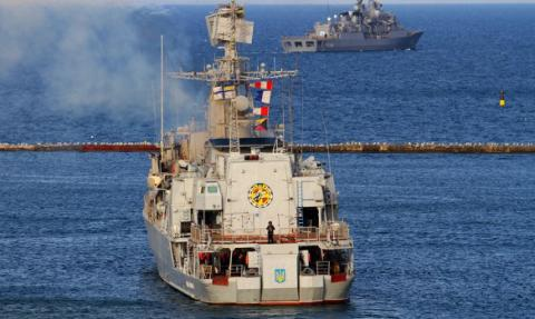 Ukrainian and Turkish Navy vessels conducted joint exercise in Black Sea