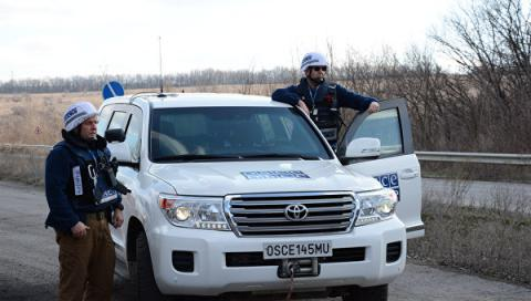 Observers of OSCE Mission to Ukraine have come twice under fire in ATO zone