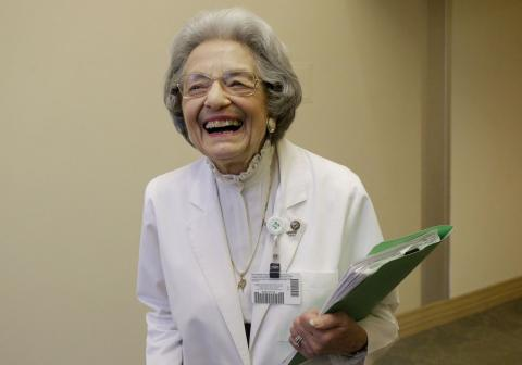 90-year-old has no plans to leave job she's had for 70 years