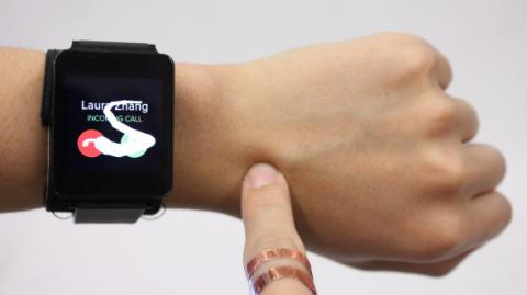 Use your arm as smart watch touch pad (VIDEO)