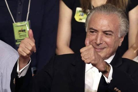 Brazil acting president Temer names Cabinet on Rousseff exit