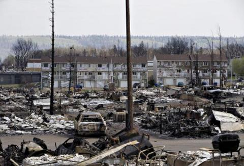 Oil sand work camps evacuated as Alberta wildfire moves north