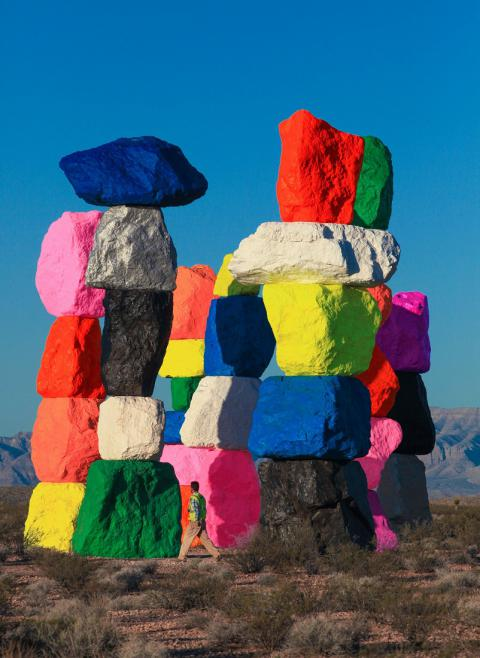 Painted desert: Ugo Rondinone erects a fluorescent stone circle in Nevada (PHOTO)
