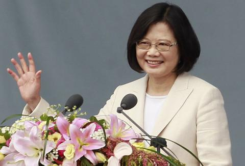 Taiwan's new president is sworn in