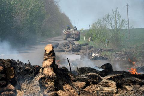 Donbas militants launched eight shell attacks on Ukrainian positions since midnight