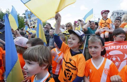 Kyiv send off Ukraine's National football team to EURO 2016