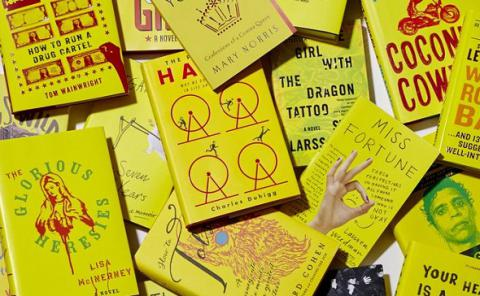 Book covers see yellow to attract online shoppers