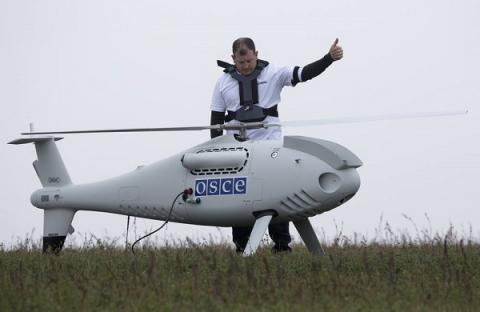 OSCE drone shot by militants in eastern Ukraine - ATO press center