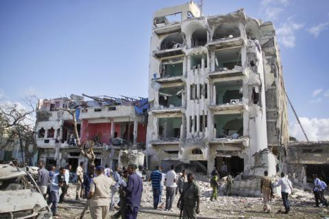 Somalia forces end extremist siege of hotel, 15 killed (PHOTO)