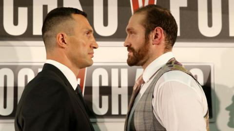 Fury promised to chop Klitschko down