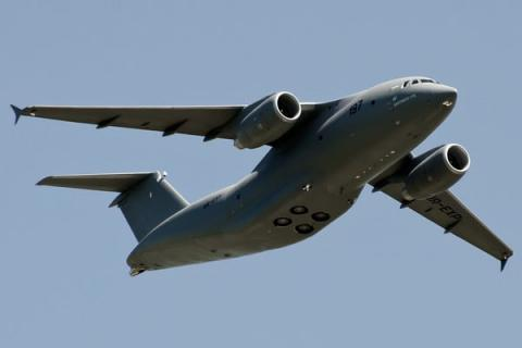 Ukraine's An-178 makes demo flight in bad weather at Berlin Air Show 2016 (VIDEO)