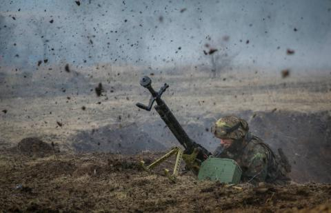 Russian proxies landed 49 attacks on govt's forces in eastern Ukraine