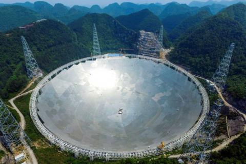 The installation of world's largest radio telescope is complete