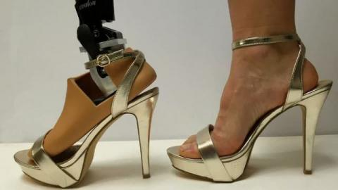 This prosthetic foot adjusts to fit heels up to four inches high (VIDEO)