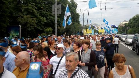 Ukrainian trade unions protests in Kyiv against utilities tariff hikes (VIDEO)