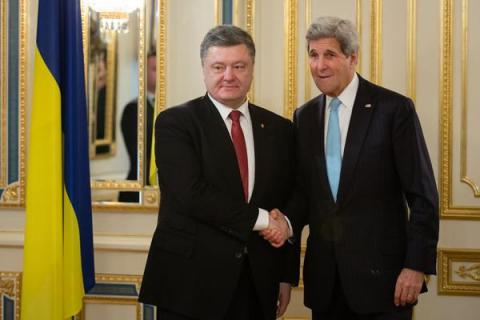 Kerry, Poroshenko discuss progress in conducting reforms, war on corruption