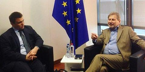 Klimkin, Hahn discuss ways to abolish roaming rates in EU for Ukrainians