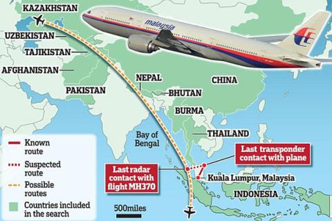 Hunt for Malaysia Airlines Flight 370 to be suspended until new data emerge