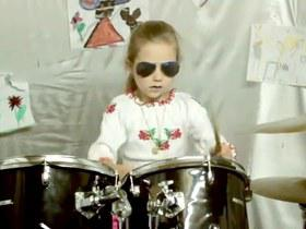 Young Ukrainian drummer Kate Kuzyakina recorded drum cover of a song of Sergey Babkin